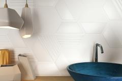 Amb EXA White lavabo Agadir Blue
